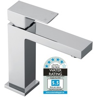 Modern Bathroom Square Mixer Tap in Chrome 113mm