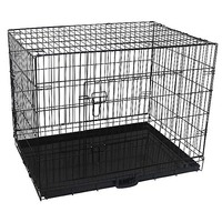 Metal Dog Pet Travel Cage w/ Waterproof Cover 36in