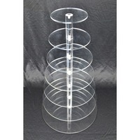 7 Tier Cupcake Stand Acrylic Wedding Display