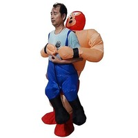 WRESTLER Inflatable Suit Fan Operated Costume