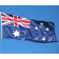 Australian Flag Set w/ Pole and Pulley System 6m