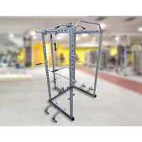 Home Gym Power Rack & Cage with 4 Barbell Hooks