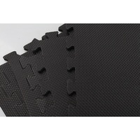 Yoga Mat With Interlocking Puzzle Tiles  Black