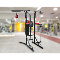 5-in-1 Speed Ball Punching Bag Pull-Up Boxing Stand