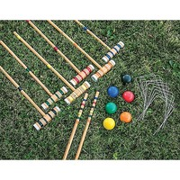 6 Player Croquet Set w/ Platinum Mallets