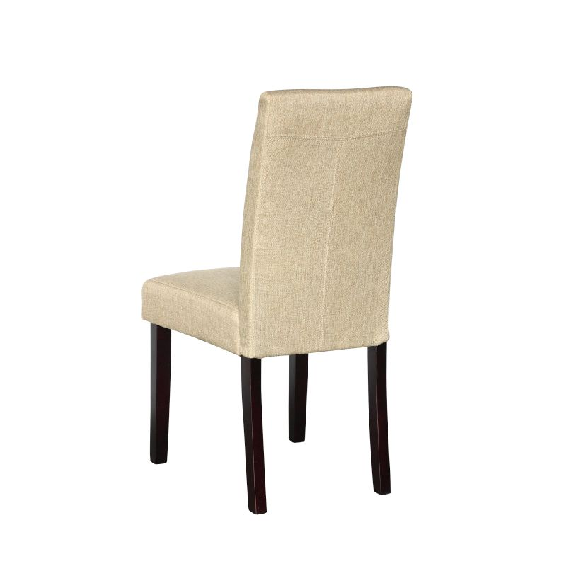 high back fabric linen dining chairs in tan buy fabric dining chairs