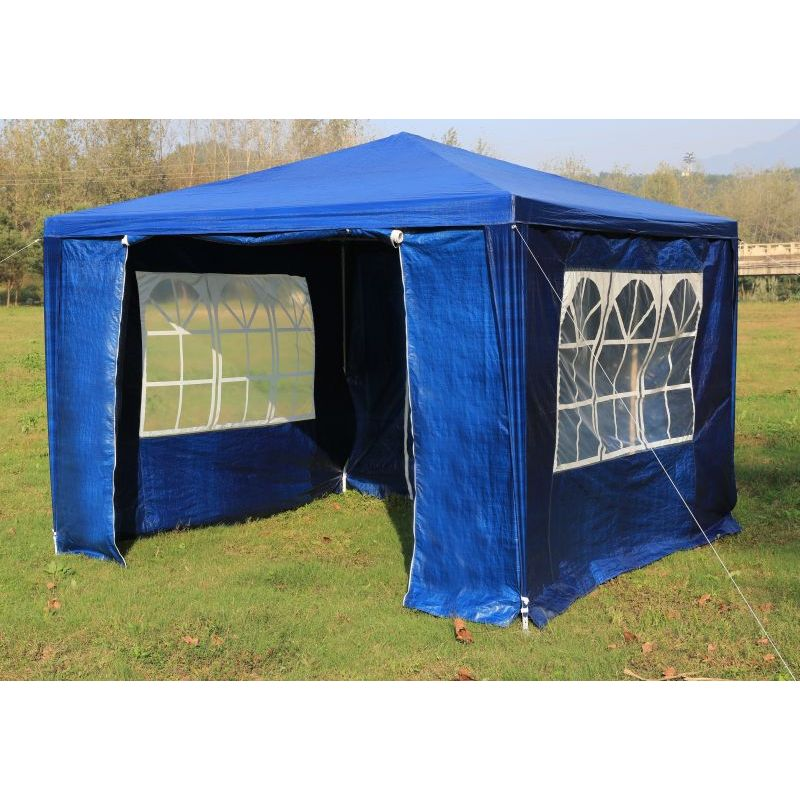 Outdoor portable gazebo marquee tent in blue 3x3m buy 3x3 for Garage opel orleans
