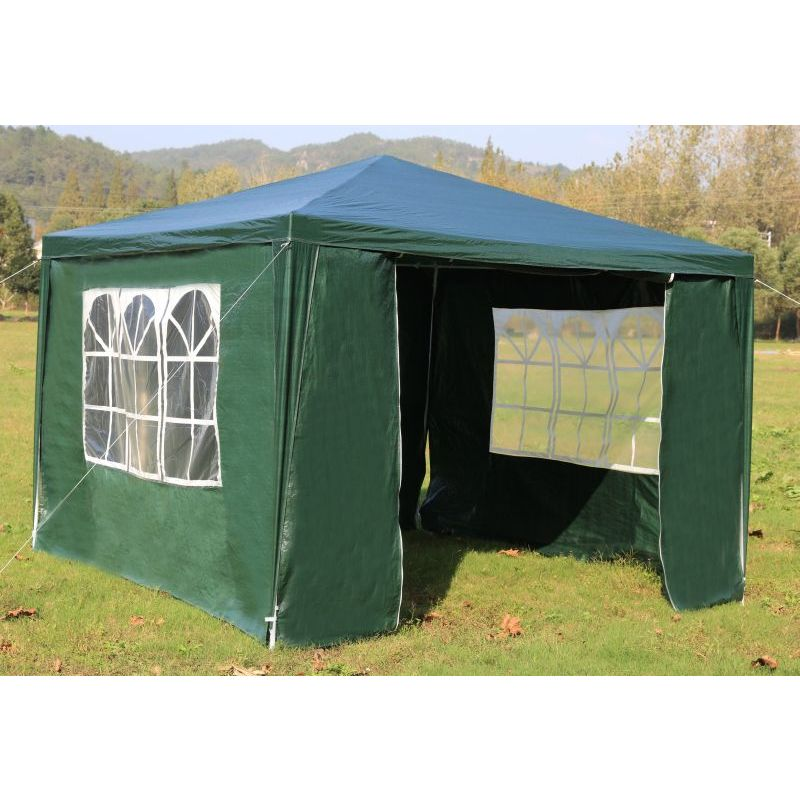 Outdoor Portable Gazebo Marquee Tent In Green 3x3m Buy 3x3m