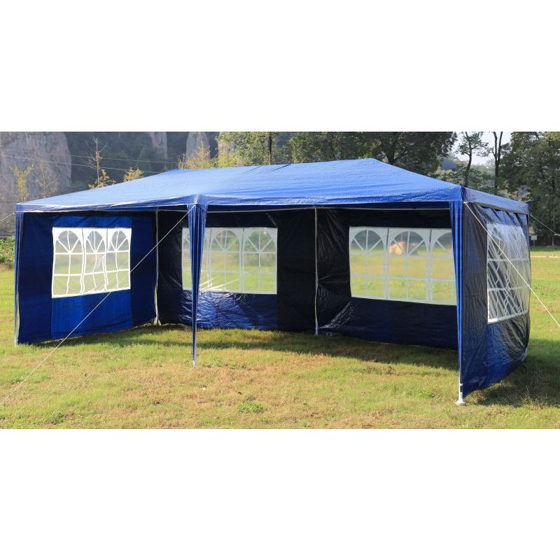 Portable Gazebo Tent : Outdoor portable gazebo marquee tent in blue m buy