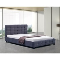 Palermo Queen Size Fabric Deluxe Bed Frame in Grey