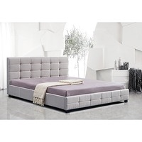 Palermo King Size Linen Deluxe Bed Frame in Beige