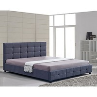 Palermo Deluxe King Size Fabric Bed Frame in Grey