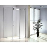 Frameless Glass Slide Shower Door Screen 1200x900mm