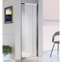 Wall to Wall Glass Shower Screen w Hinge Door 800mm