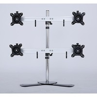 Quad LCD Monitor TV Mount Bracket Desktop Stand
