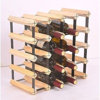 20 Bottle Timber Wine Rack Complete Storage System