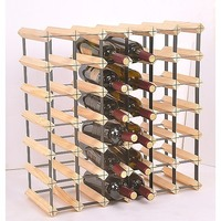 42 Bottle Wooden Wine Rack Complete Storage System