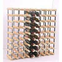 Free Standing 72 Bottle Wooden Wine Storage Rack