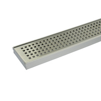 Square Pattern Tile Insert Linear Shower Grate 90cm