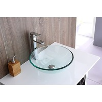 Modern Round Glass Counter Top Bathroom Basin Sink