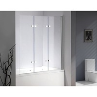 3 Fold Frameless Glass Shower Screen Door Panel