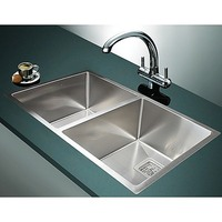 Stainless Steel Double Bowl Kitchen Sink 835x505mm