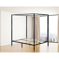 Modern Double Size 4 Poster Bed Frame in Black