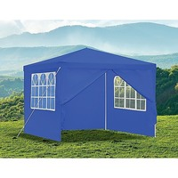 Outdoor Portable Gazebo Marquee Tent in Blue 3x3m