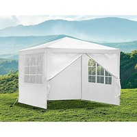 Outdoor Portable Gazebo Marquee Tent in White 3x3m