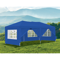 Outdoor Portable Gazebo Marquee Tent in Blue 3x6m