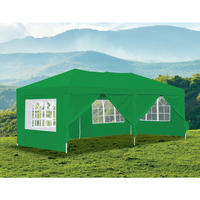 Outdoor Portable Gazebo Marquee Tent in Green 3x6m