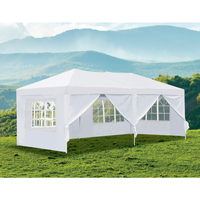 Outdoor Portable Gazebo Marquee Tent in White 3x6m
