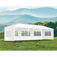 Outdoor Portable Gazebo Marquee Tent in White 3x9m