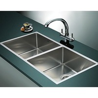 Double Square Cube Stainless Steel Kitchen Sink