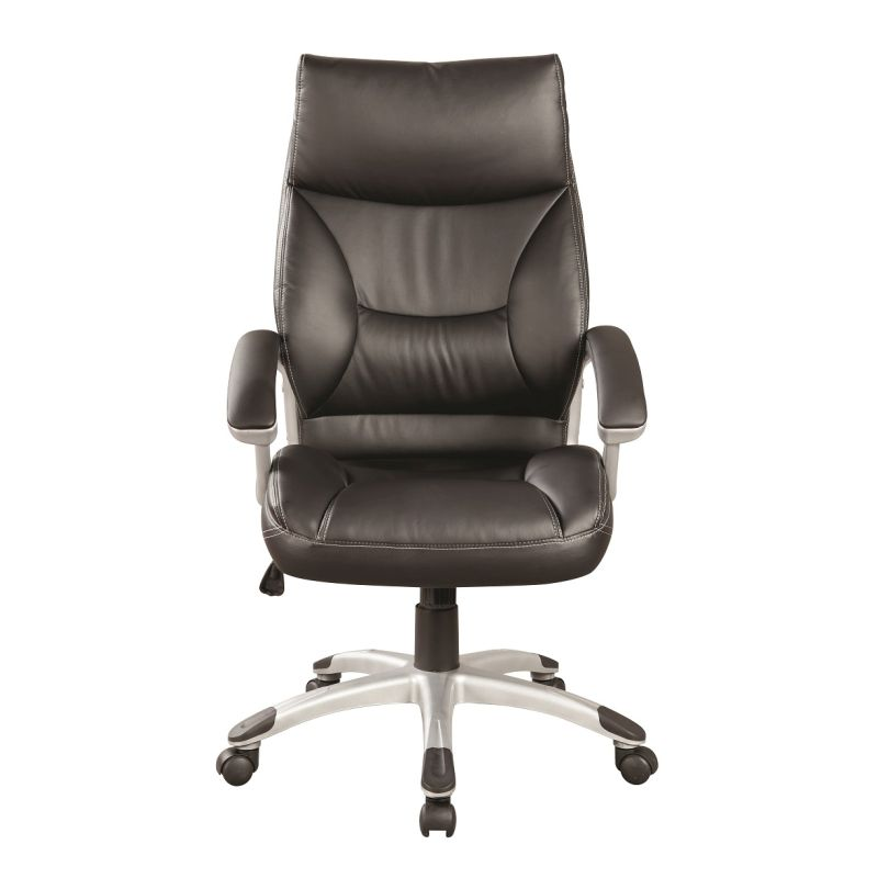 pu leather gas lift swivel office chair in black buy. Black Bedroom Furniture Sets. Home Design Ideas