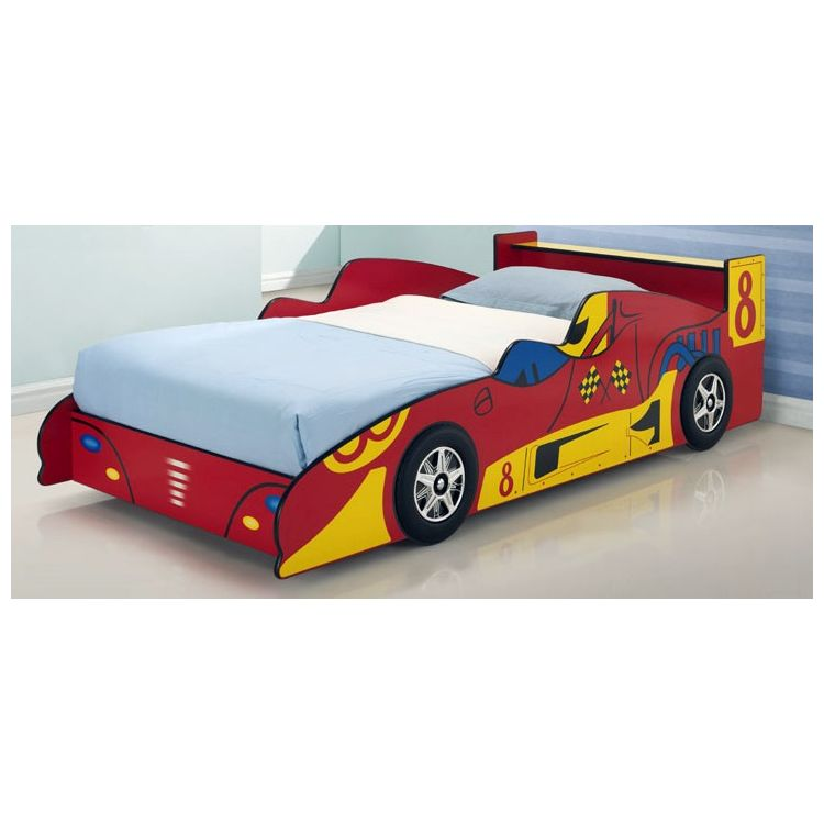Toddler Kids Red Racing Race Car Bed Frame Buy Novelty Beds
