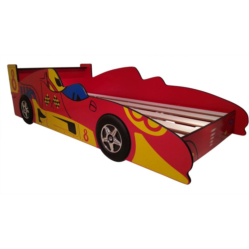 Toddler Kids Red Racing Race Car Bed Frame