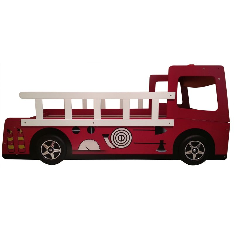 Kid 39 s toddler red fire engine truck bed frame buy novelty beds - Ikea fire truck bed ...