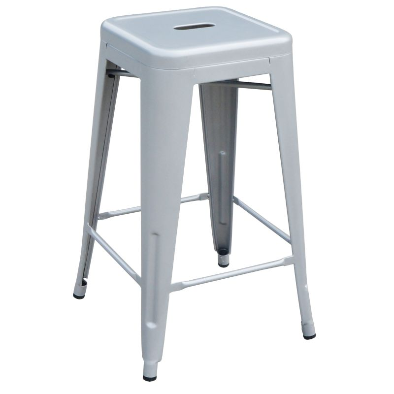 4x replica tolix steel metal bar stool silver 66cm buy sets of 4