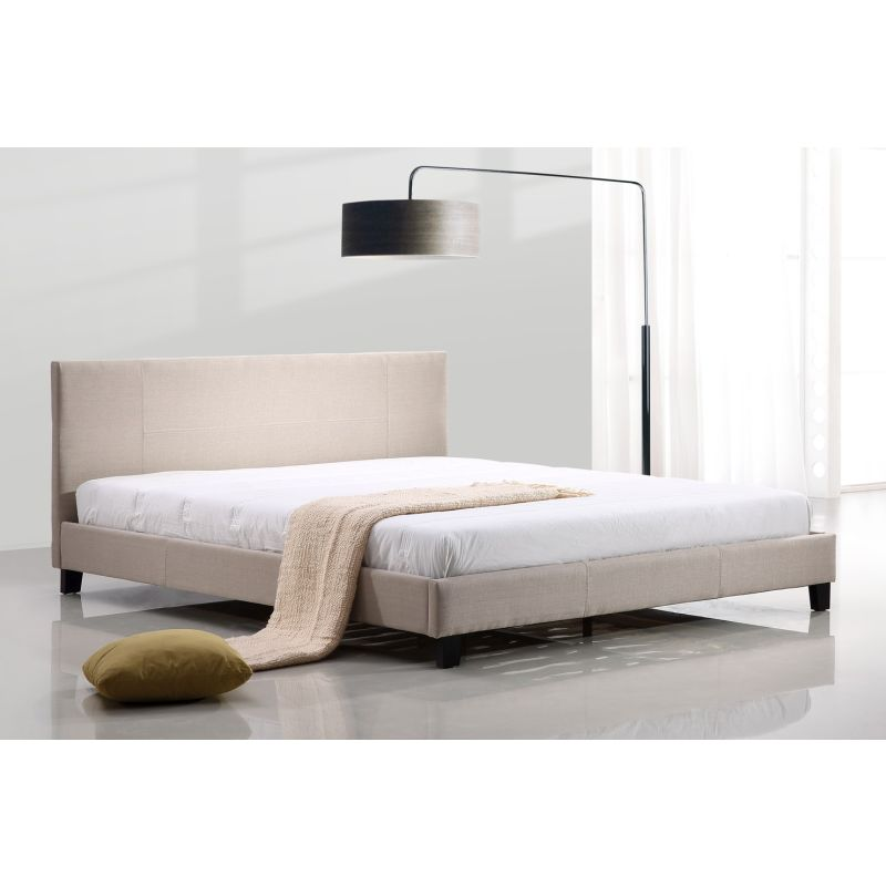 King Size Palermo Linen Bed Frame in Beige | Buy King Size Bed Frame