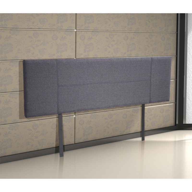 king size upholstered fabric headboard in grey buy king size headboard 135350. Black Bedroom Furniture Sets. Home Design Ideas