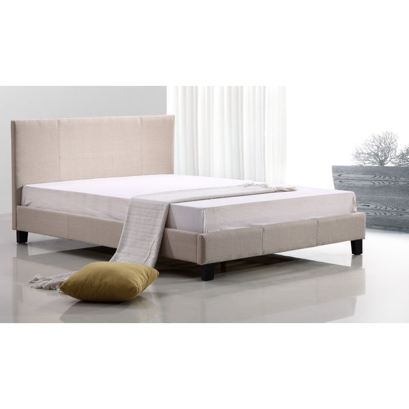 283 Best Images About Fabric Bed Headboards On Pinterest: Palermo Double Size Fabric Bed Frame In Beige