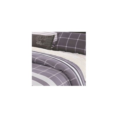 Contrast King Cotton Doona Quilt Cover Set 250TC
