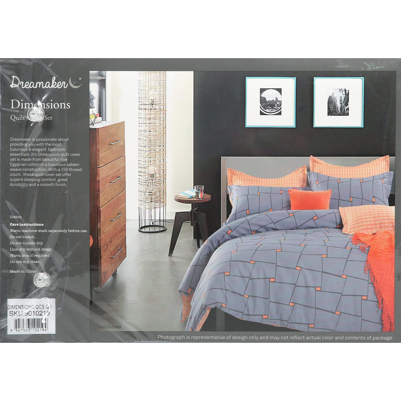 Dreamaker Dimensions King Single Quilt Cover Set Buy