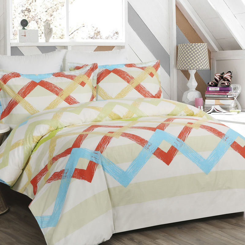 Dreamaker Pastel King Size Quilt Duvet Cover Set Buy