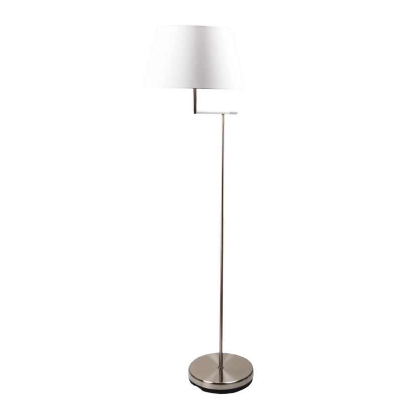 majesty brushed steel floor lamp with foot switch buy floor lamps 134976. Black Bedroom Furniture Sets. Home Design Ideas