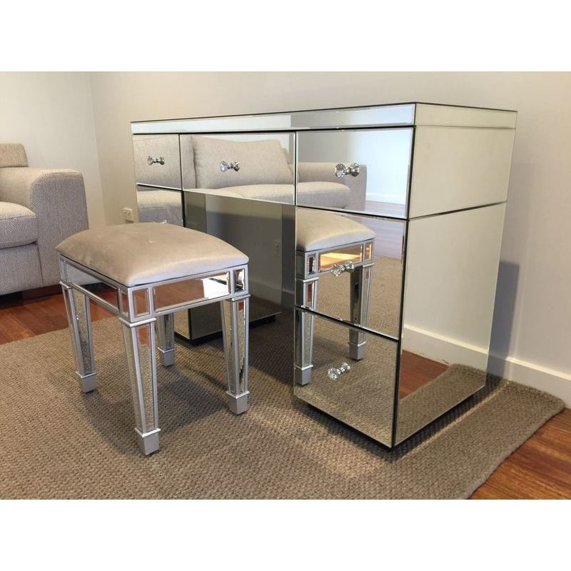 Image Result For Mirrored End Table With Drawers
