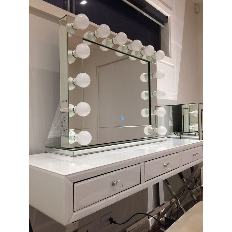 Hollywood Vanity Makeup Mirror with Dimmable Lights | Buy ...