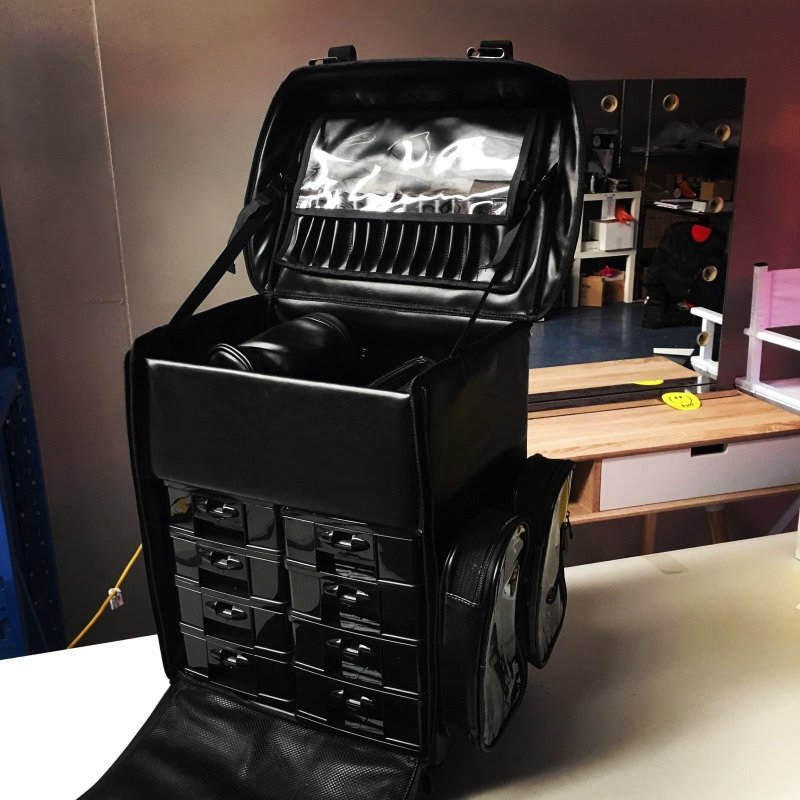 Pu Leather Makeup Artist Storage Organiser Trolley Buy