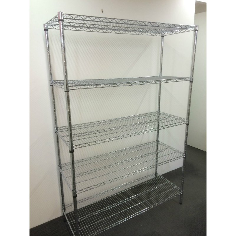 5 tier adjustable storage wire metal shelving 120cm buy. Black Bedroom Furniture Sets. Home Design Ideas